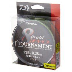 Tournament X8 Evo Chartreuse 012 mm / 8.6 kg / 135 m • Daiwa