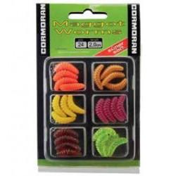 Set Naluci Maggot Worms 2cm Diverse Culori 24 bucati • Cormoran
