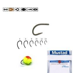 Carlig Br.Forjat EggCaddis pentru Musca • Mustad